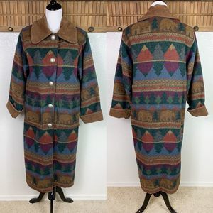 Vintage 90s Painted Pony Wool Blend Mountain Coat